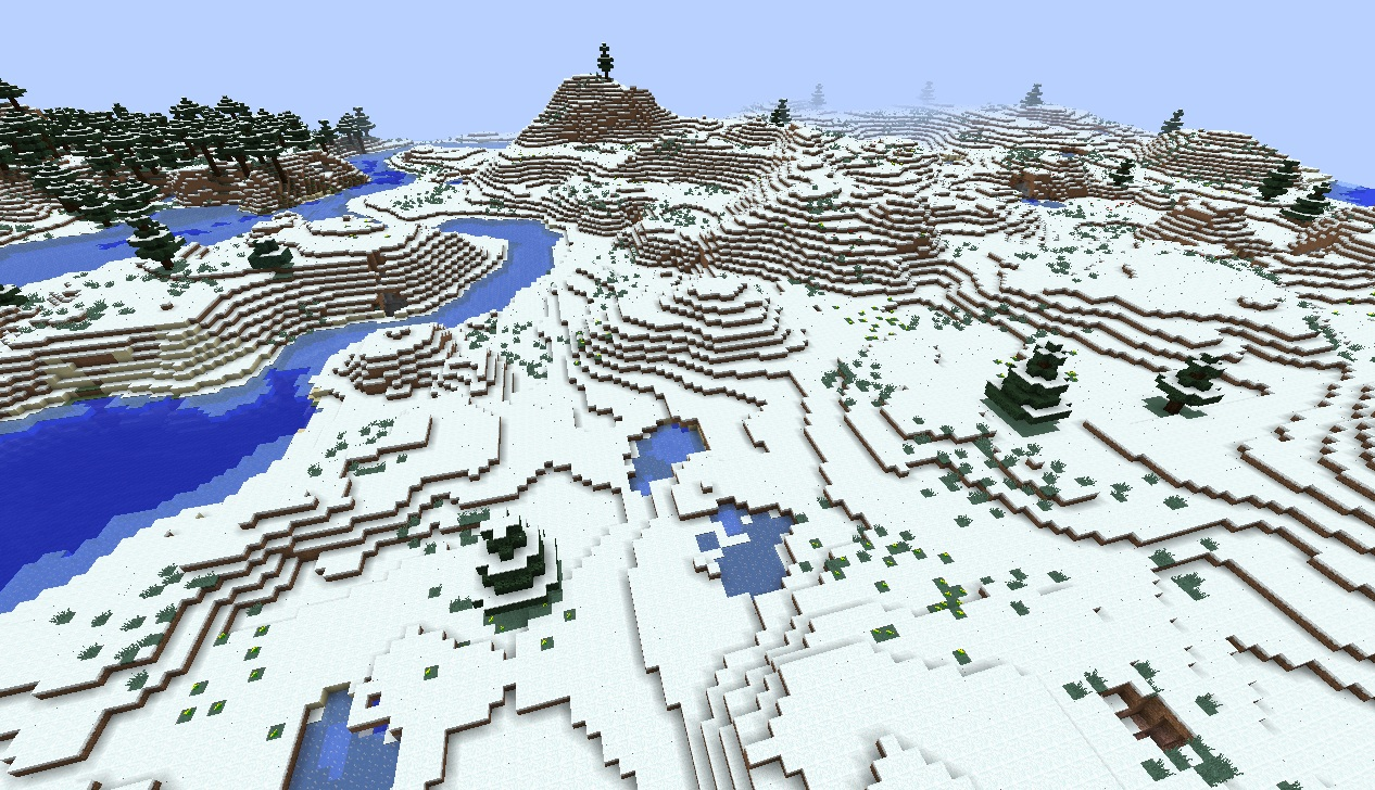 Minecraft Snow Seed 183 With Caves Forests And Oceans