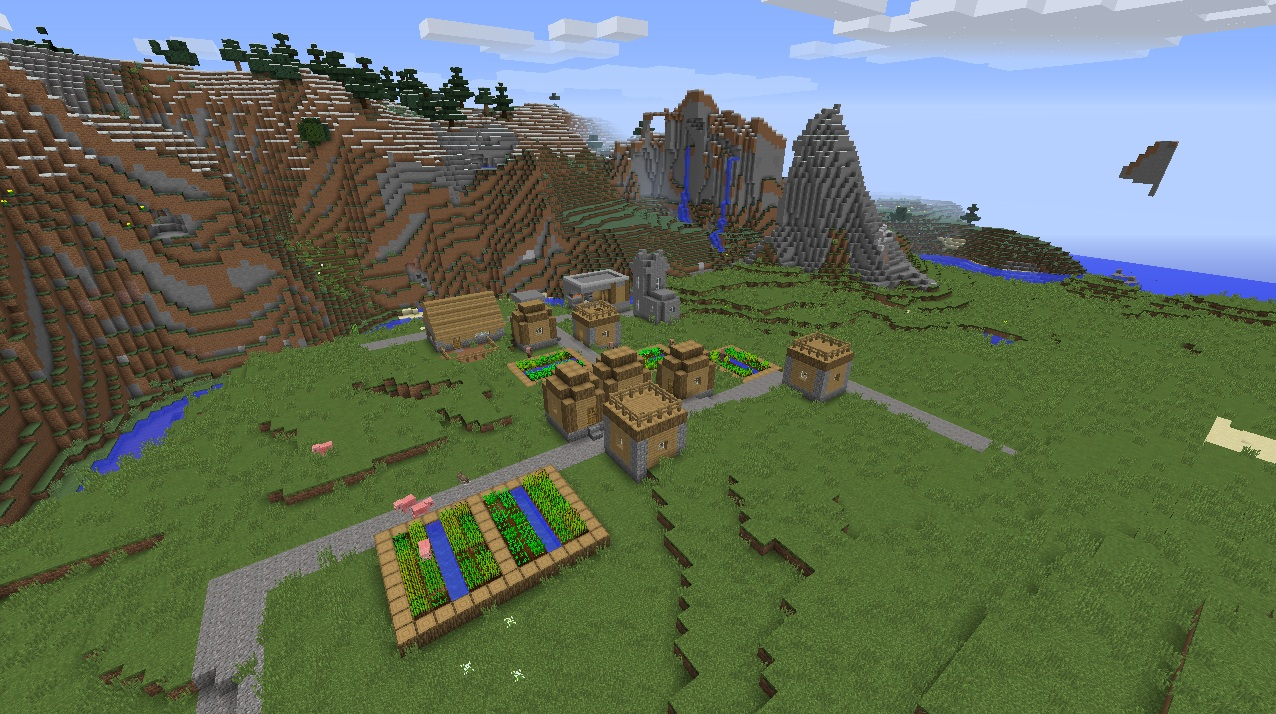 File Minecraft Village Seed 1 8 7 Butcher Blacksmith Taiga