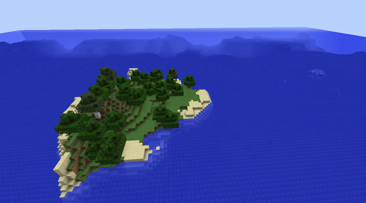Small Minecraft Survival Island Seed With 26 Trees 1 7 10