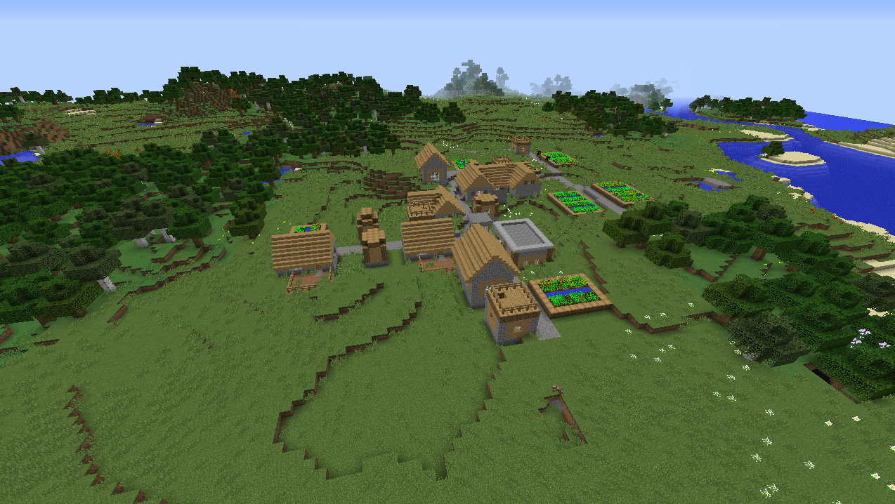 Perfect big plains village seed Minecraft 1.8.1.png