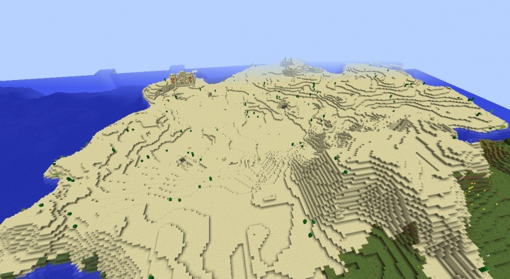 Minecraft 1.8.3 desert seed with desert temple and two diamonds in it by desert temple island 1.8.3.jpg