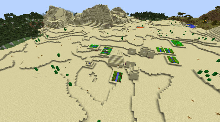 Minecraft desert village seed 182 forest savanna taiga temple.png