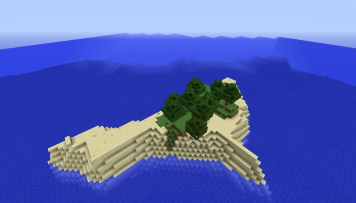 Minecraft survival island seed 1.9 with a few trees.jpg