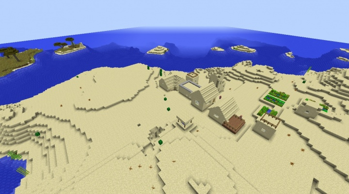 Minecraft 1.8.4 enchanting seed with two villages and temples.jpg