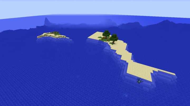 Minecraft survival island seed 1.8.2 fifteen diamonds underground fissure.png