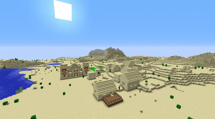 Minecraft desert village with temple built in cool fun awesome epic amazing interesting.jpg
