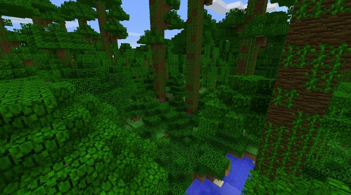 Minecraft 1.8.4 jungle seed with ponds and hills.jpg