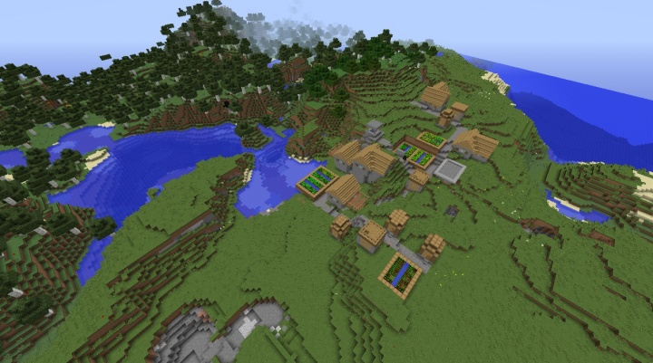 Cool Minecraft 1.8.8 seed with awesome village and buried blacksmith.jpg