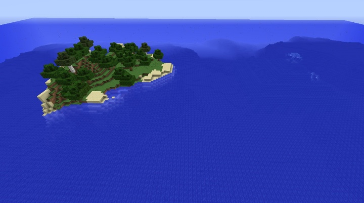 Minecraft island seed 1.8.4 with ocean monument and lots of trees.jpg