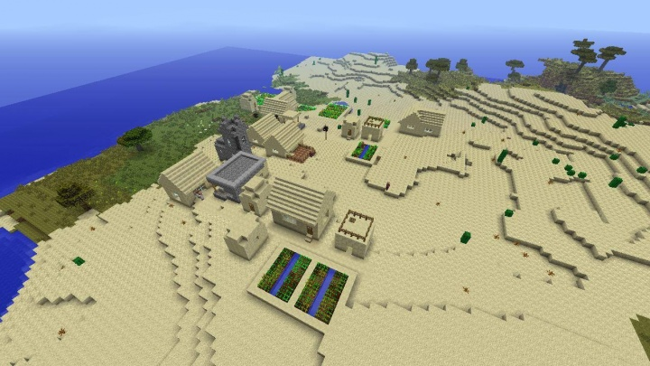 Minecraft PS4 desert village seed with blacksmith 1.39.jpg