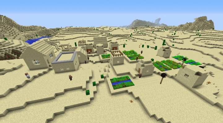 Minecraft 1.8.4 village house seed with desert temple house villagers broken funny best cool amazing.jpg