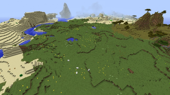 Minecraft 1.8.4 plains village seed sunflower plains flowers desert villages.jpg