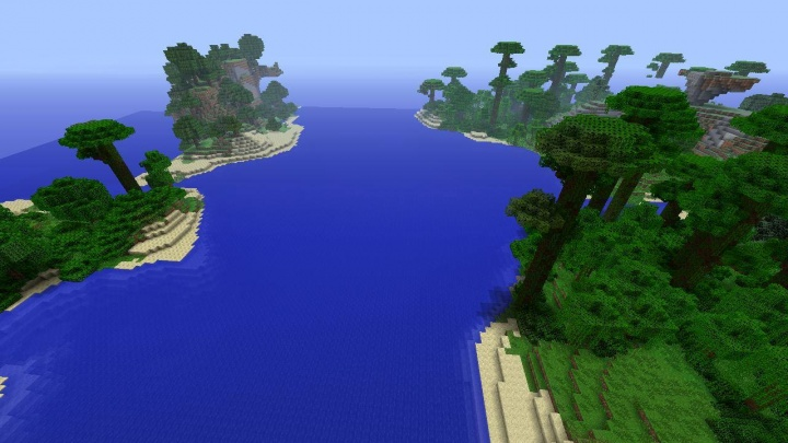 Minecraft Xbox 360 jungle seed with jungle islands.jpg
