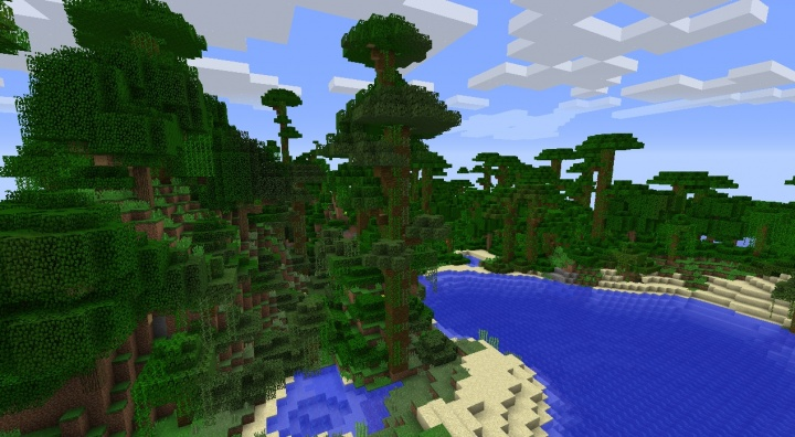 Minecraft 1.8.4 jungle temple seed with temples everywhere massive ocean jungle.jpg