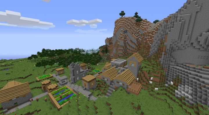 Beautiful Minecraft village seed with awesome village layout.jpg