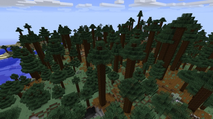 Minecraft mega taiga seed 1.8.4 by the sea.jpg
