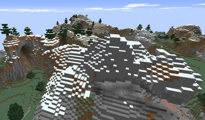 Minecraft extreme hills biome seed.png