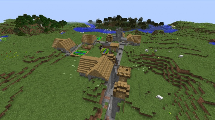 Minecraft 1.9 fissure village seed with horses and swampland.jpg