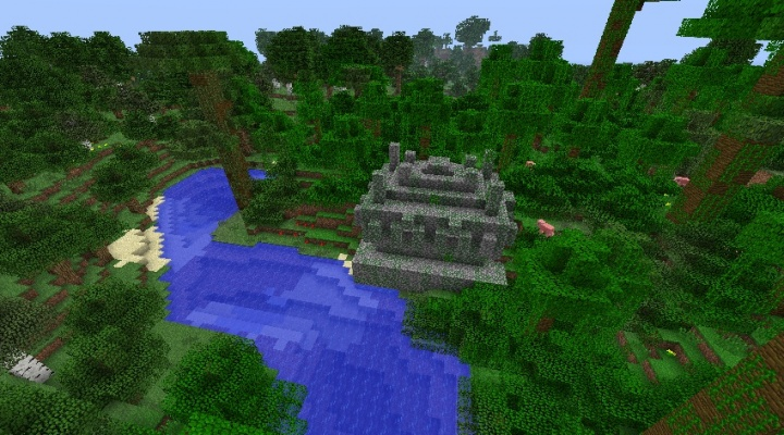 Minecraft 1.5.2 seed with jungle temple and six diamonds.jpg