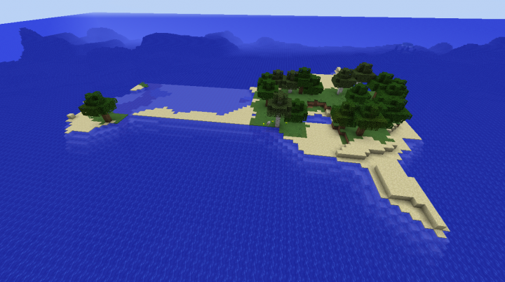 Wolf infested survival island ocean monument seed Minecraft 1.8.2.png