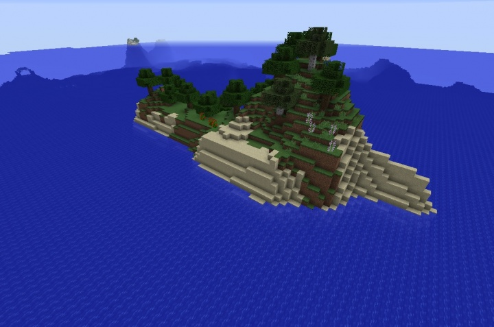 Minecraft 1.12.1 island seed with hilly flowers and ocean monument.jpg