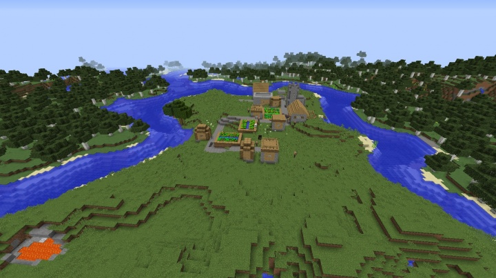 Minecraft village seed 1.9 by big beautiful birch forest.jpg