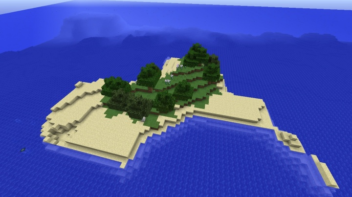 Minecraft 1.8.4 survival island seed with generic trees and flowers.jpg