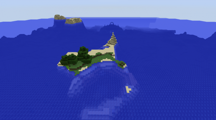 Survival island ocean monument seed with tons of islands Minecraft 1.8.2.png
