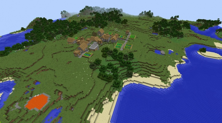 Minecraft village seed perfect cool best generic grasslands village 1.8.1 1.8.2 1.8.3 Minecraft.jpg