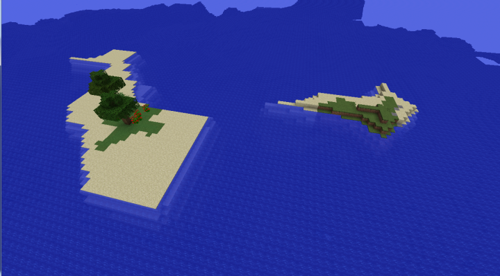 Survival island seed with insane diamonds underground Minecraft 1.8.2 diamond seed.png