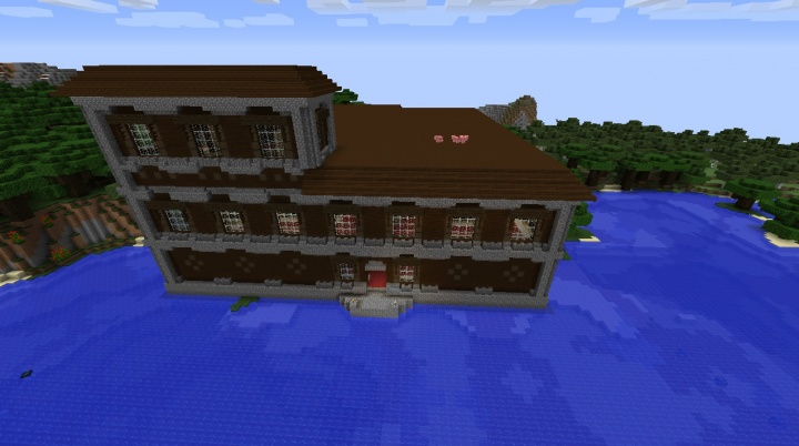 Minecraft 1.11.2 woodland mansion seed nearby.jpg