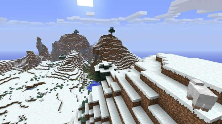 Minecraft 1.5.2 snow seed with mountains and rivers.jpg