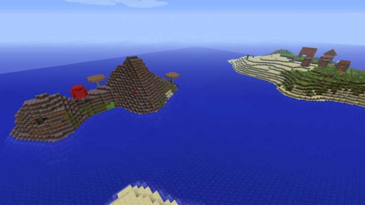 Minecraft Xbox 360 mushroom island seed with village right there.jpg