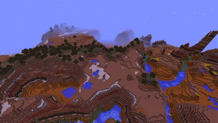 Minecraft 1.8.3 mesa seed with bryce and mesa forest nearby tons of caves to bedrock.jpg