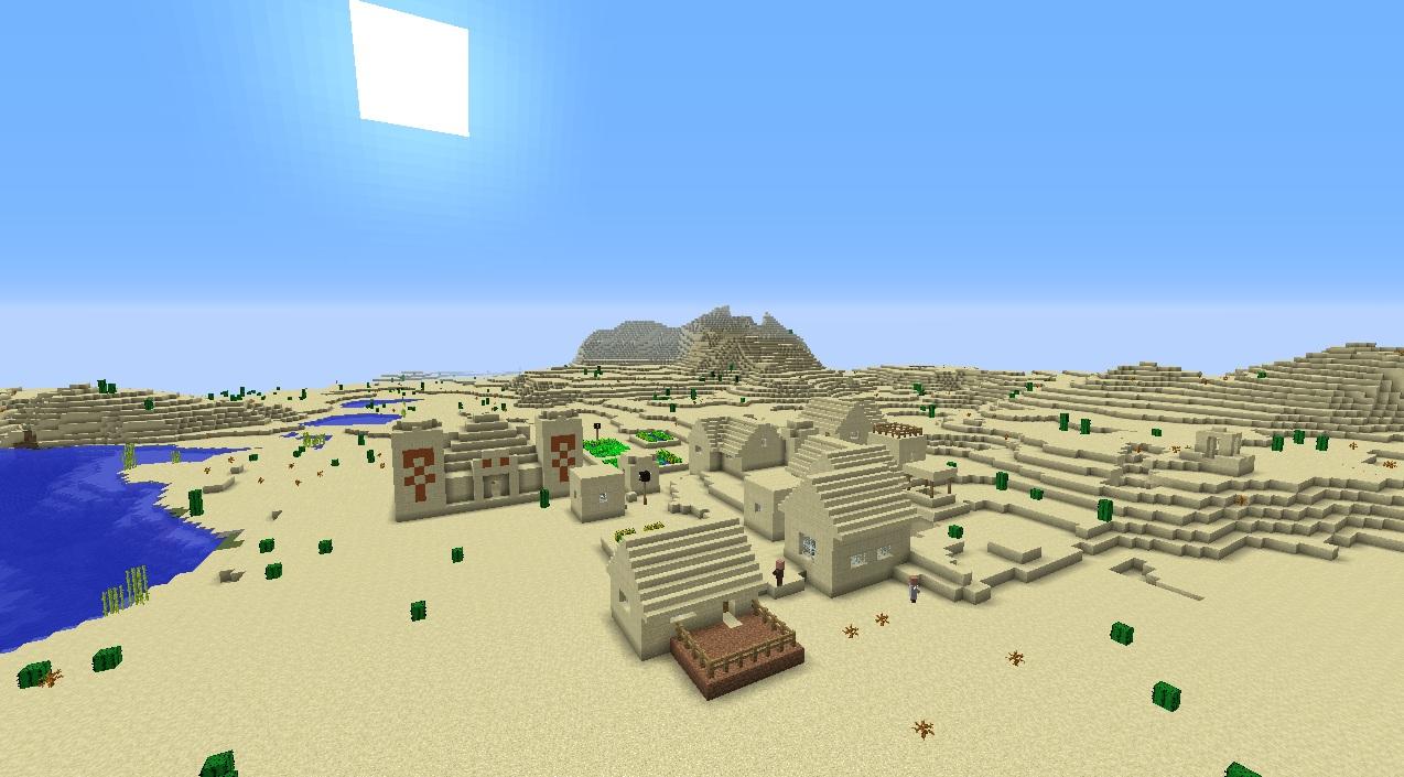 как построить деревню в пустыне в майнкрафте #7