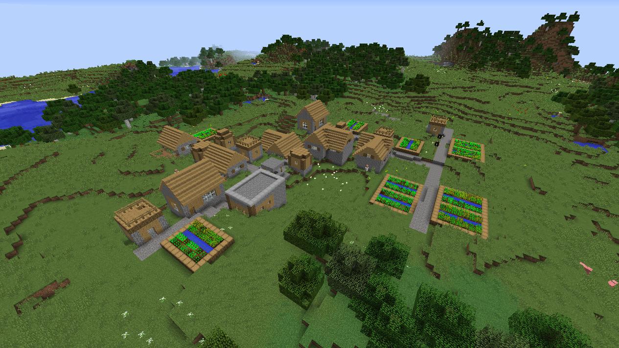 Minecraft 1 8 1 Npc Village Seed Compilation Images