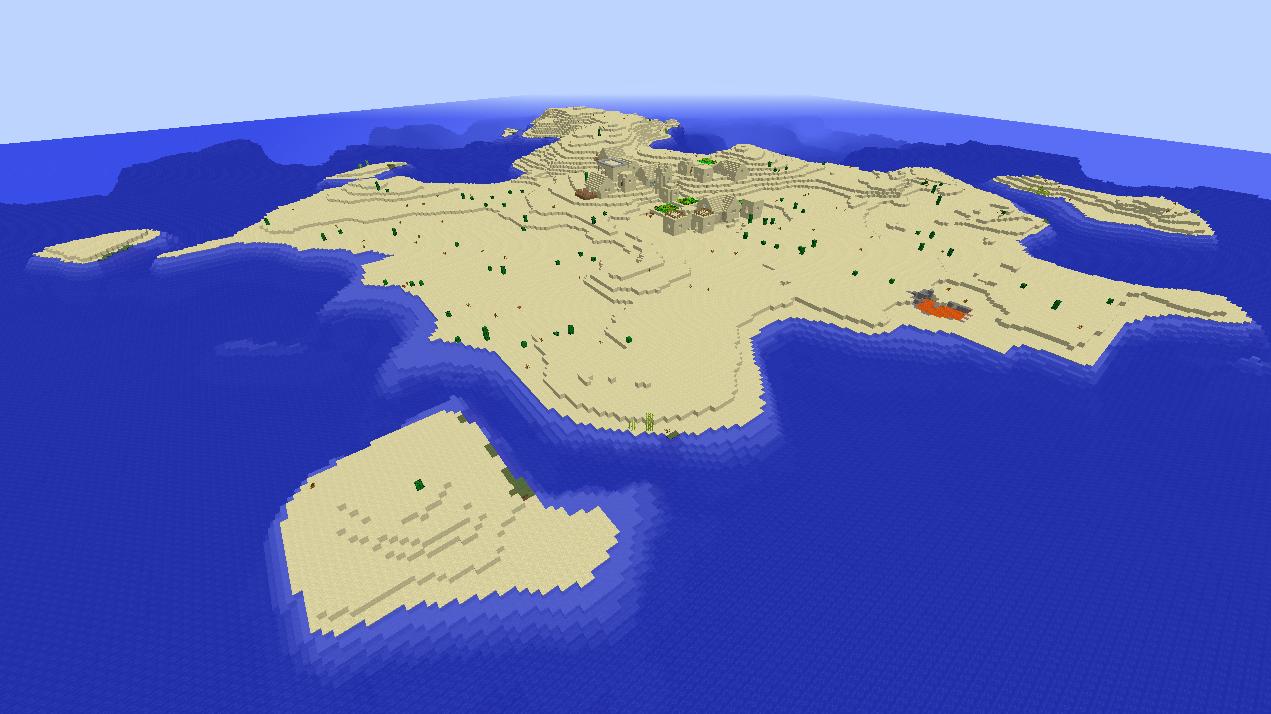 Best Minecraft island village seed ever - small island, big