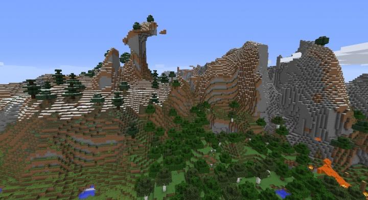 Minecraft Extreme Hills Seeds - Minecraft seeds wiki