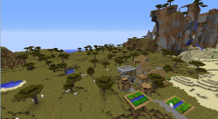 Minecraft Savanna Seeds Minecraft Seeds Wiki