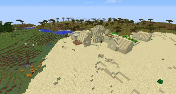 Minecraft Desert Seeds - Minecraft seeds wiki