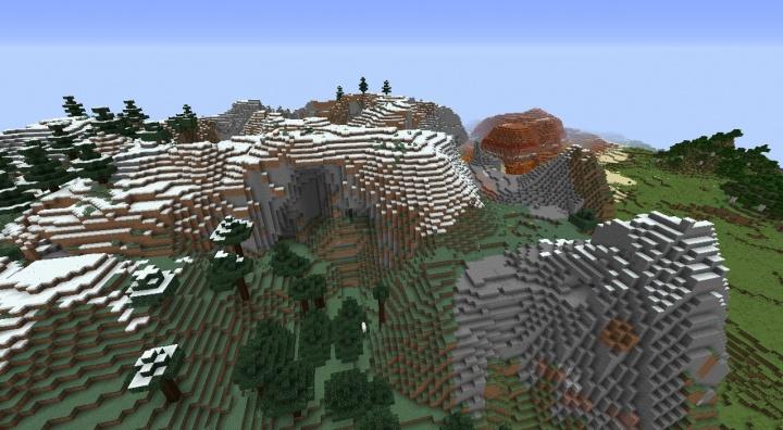 Minecraft Extreme Hills Seeds Minecraft Seeds Wiki