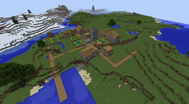 Minecraft Village Seeds 1 11 2 - Minecraft seeds wiki